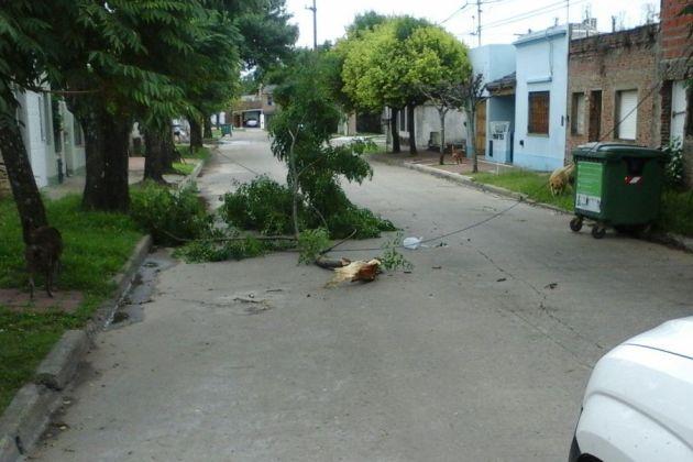 Protección Civil actuó ante el temporal del sábado a la madrugada