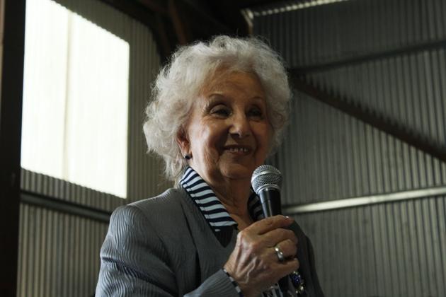 Estela de Carlotto presente en el almuerzo solidario para Abuelas