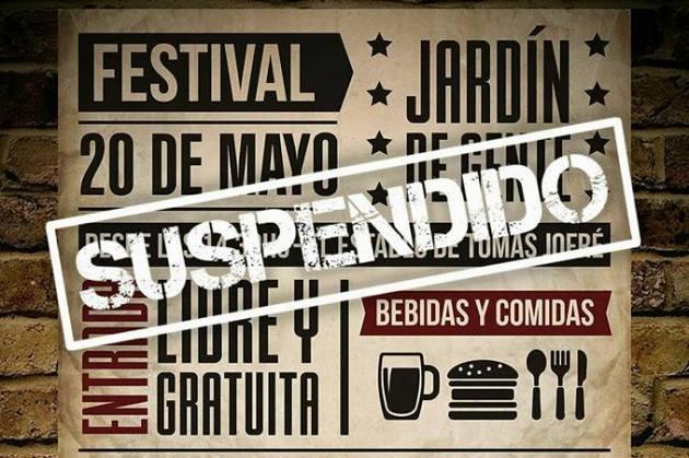 Suspenden festival musical en Tomás Jofre