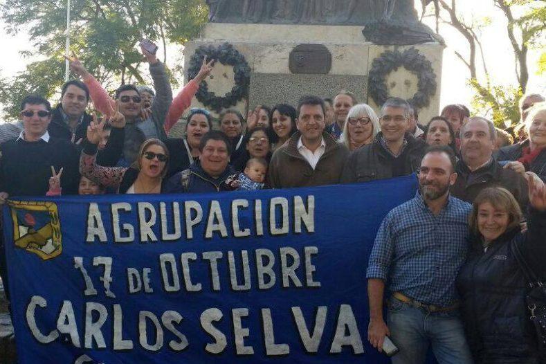 Militantes y candidatos locales del Frente 1País en l encuentro de San Andrés de Giles