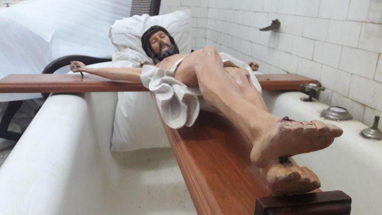 El Museo Míguez restaura el Cristo de la Capilla del Cementerio
