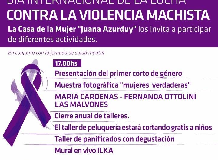 Música en vivo, expo, relatos y actividades por el Día contra la violencia hacia la mujer