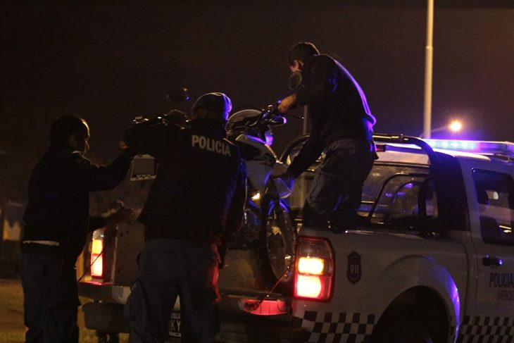 Municipio secuestra 9 motos que realizaban picada y realiza denuncia penal