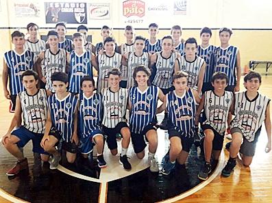 Tomás Beyer, Emilio Carcagno, Marcos Graziadei y Mateo Tassara en la Pre Selección U15
