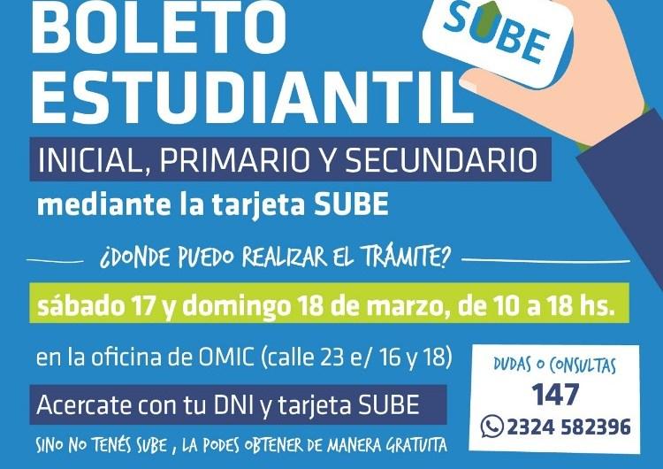 Municipio continuará durante la semana trámite de boleto estudiantil