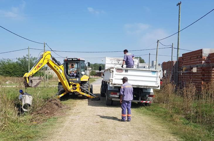 Municipio realiza distintas obras en barrios de la ciudad