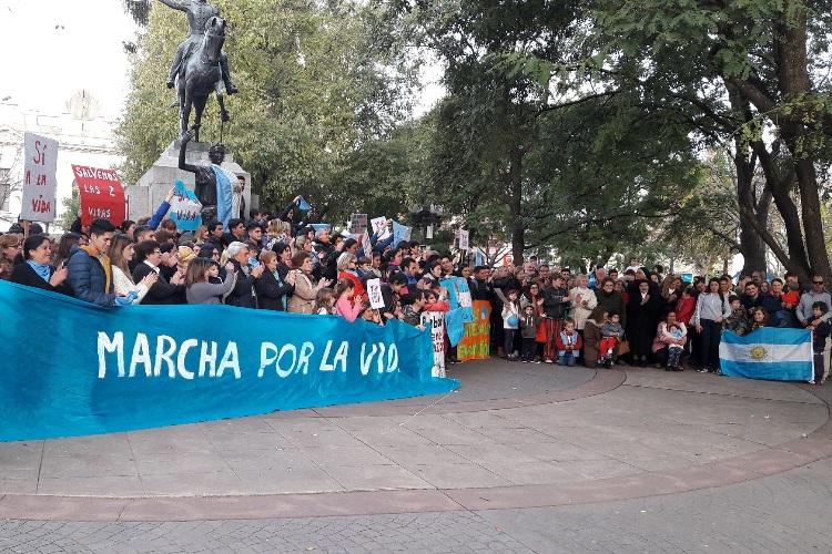 Se llevó a cabo la última manifestación «a favor de las dos vidas»