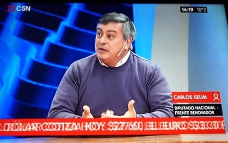 Carlos Selva en entrevistas en distintos medios televisivos