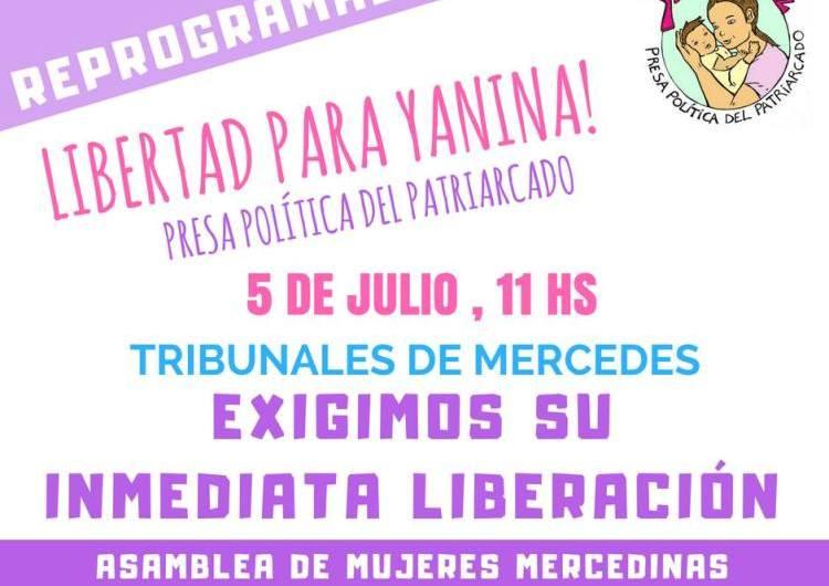 El jueves movimiento de mujeres exigen liberación de Yanina Faríaz