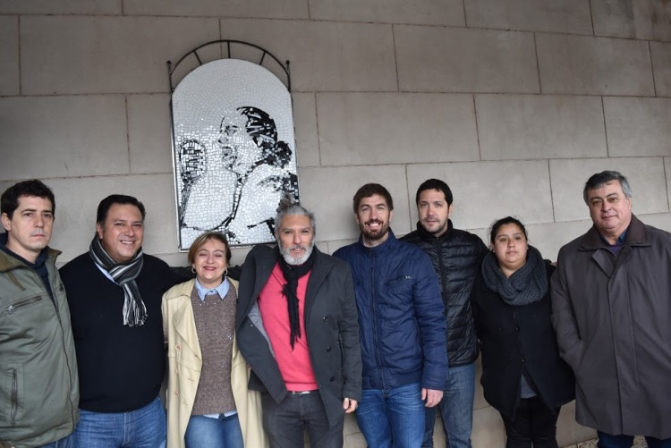 Homenajearon a Eva Duarte de Perón inaugurando imagen en Desarrollo Social