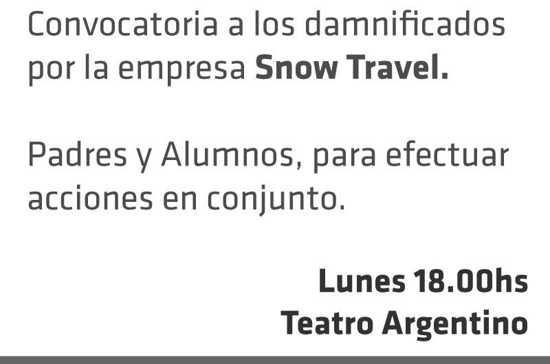 """Municipio convoca a padres y alumnos damnificados por """"Snow Travel"""" en su viaje de egresados"""