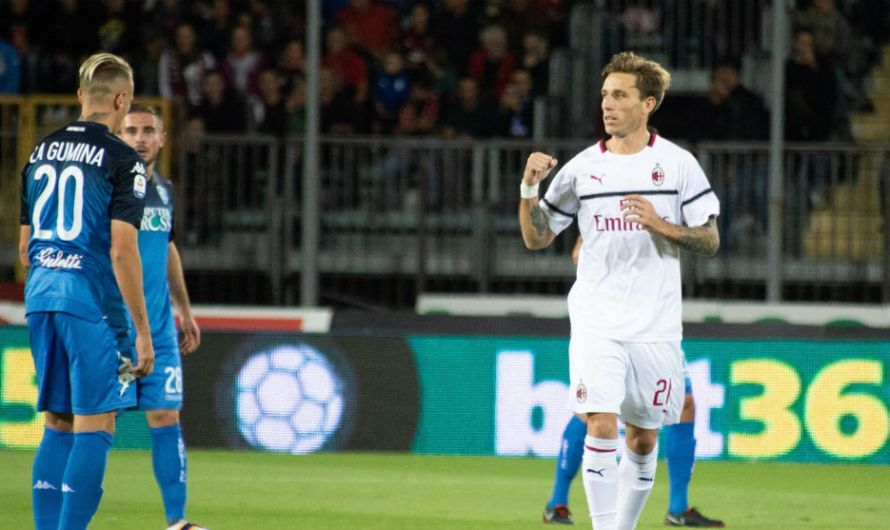 Lucas Biglia marcó un gol para Milan e hizo un penal para Empoli (video)