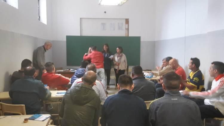 Programa Vital Ocupacional: Taller para internos de la Unidad 5