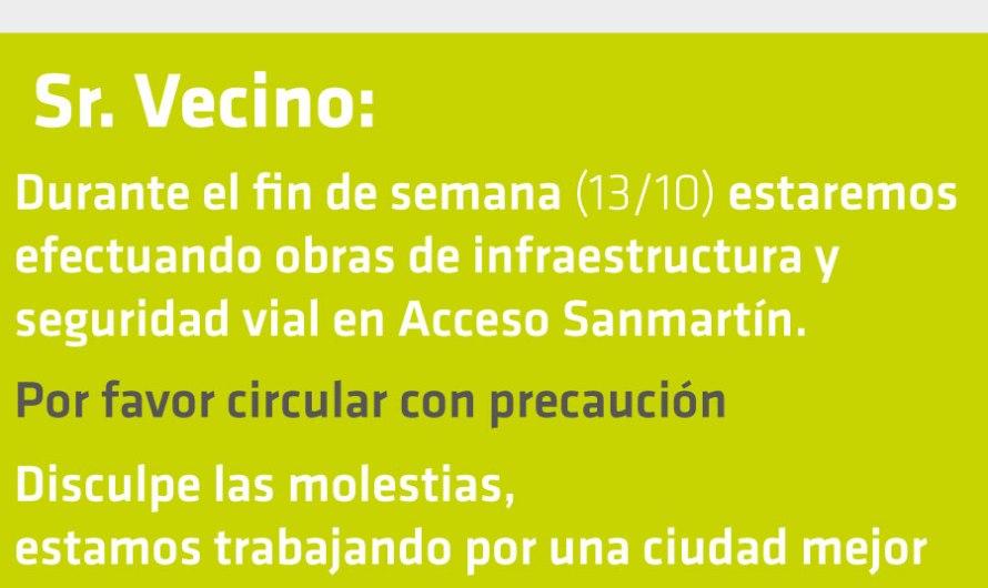 Inician obra de infraestructura y seguridad vial en Acc. Sanmartin