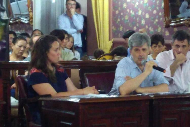 Banca participativa pidiendo el fomento de la agroecología