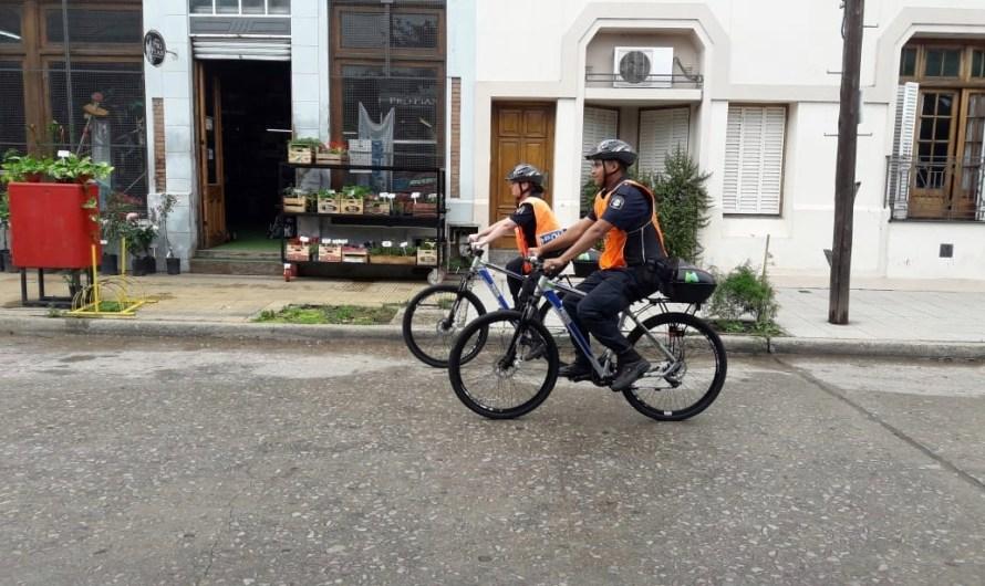 Policía Comunal ya realiza tareas en prevención desde las nuevas bicicletas