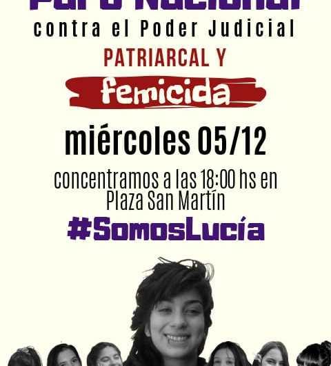Convocatoria contra la decisión judicial del caso de Lucía Pérez