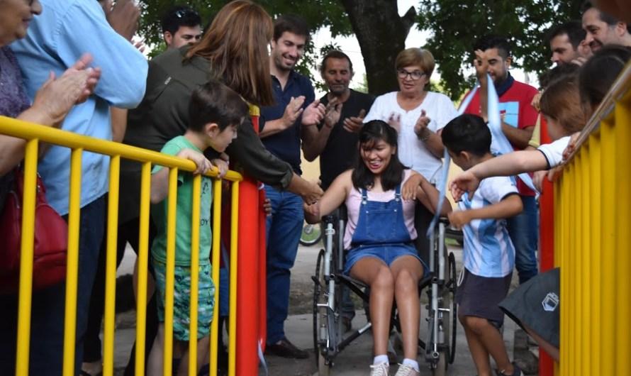 Barrio Santa Teresita ya tiene su plaza inclusiva