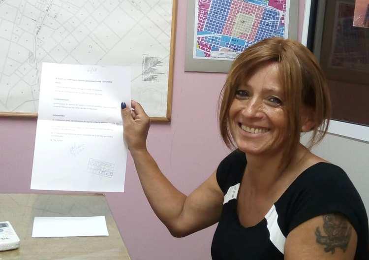 Juana García presentó proyecto para la identificación de calles en Bo. Malvinas
