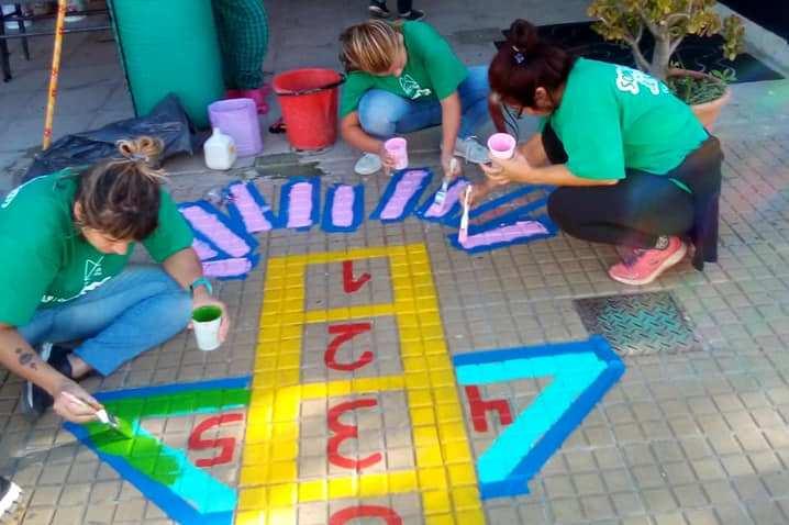 En Jornadas Solidarias pintan clubes y escuelas