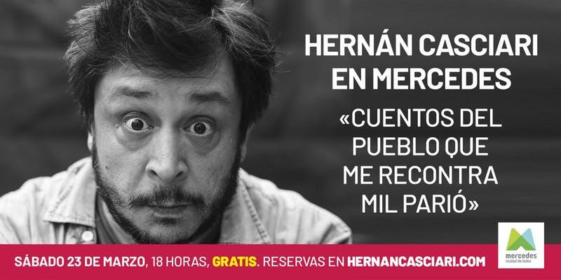 Todo listo para un gran show de Hernán Casciari gratis en La Trocha