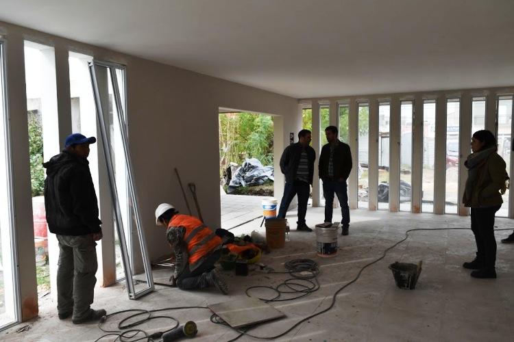 Avanzan las obras en la Casa Velatoria Municipal