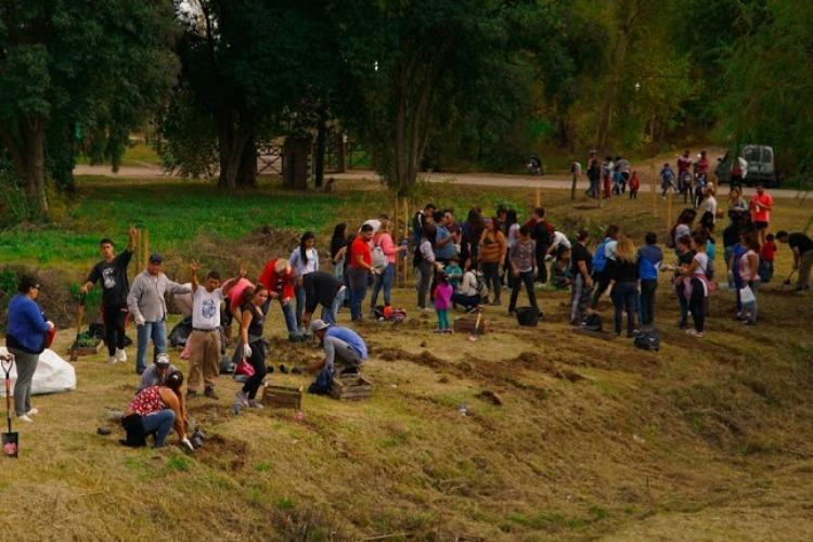 Jornada de plantación y fito remediación en el Parque Municipal
