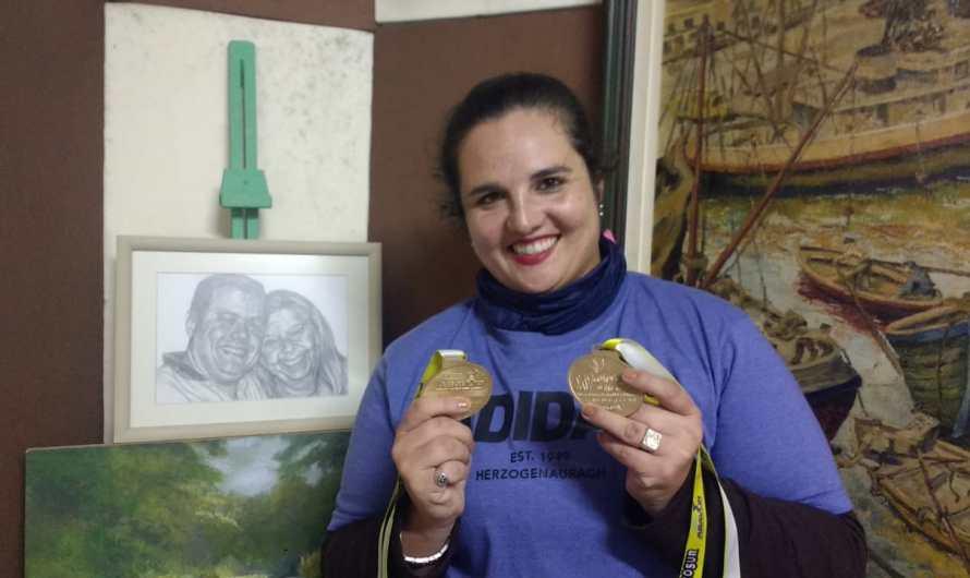 Débora Martinelli obtuvo dos medallas doradas en Uruguay