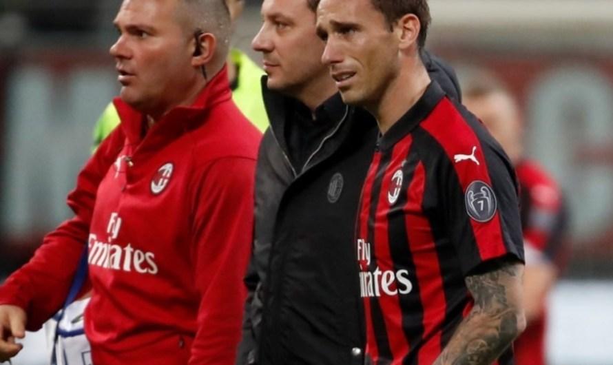 Lucas Biglia se retiró del partido ante Bologna lesionado y entre lágrimas