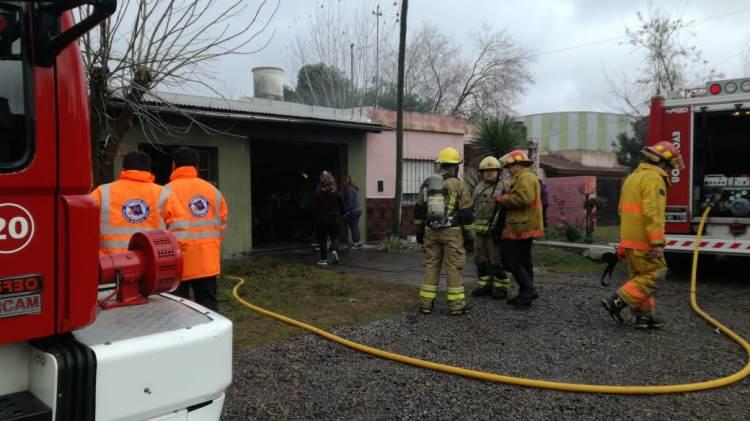 Se incendió una casa en 316 y 119