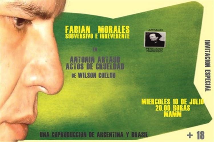 Estrenan Antonin Artaud-Actos de Crueldad en el MAMM