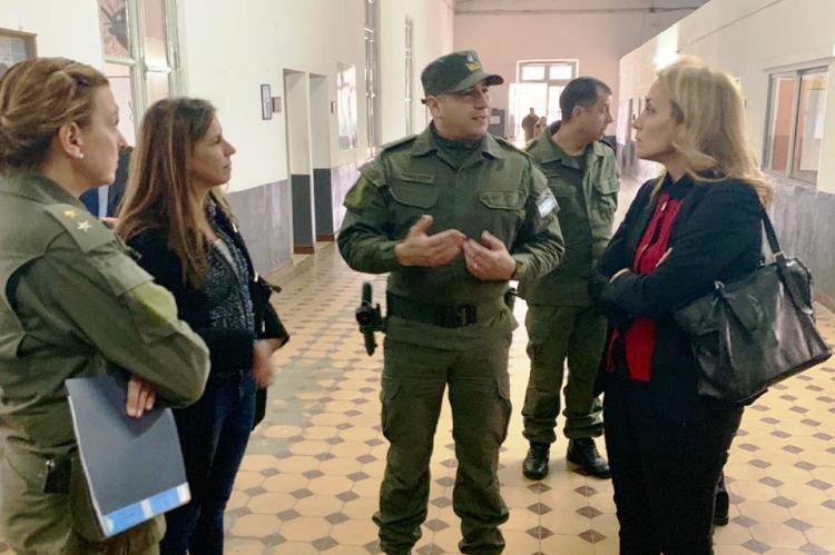 Florencia Arietto en Gendarmería por el Servicio Cívico Voluntario en Valores
