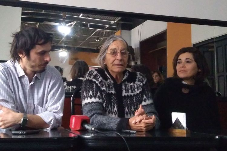 Nora Biaggio de campaña con los candidatos locales de la Izquierda