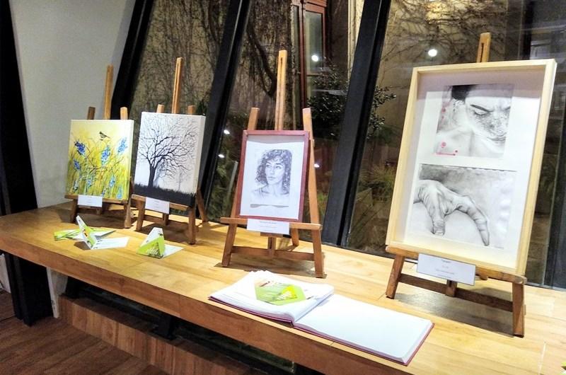 Se inauguró muestra de arte en el Colegio de Arquitectos