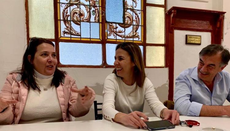 María Luján Rey visitó la ciudad con los candidatos de Juntos por el Cambio