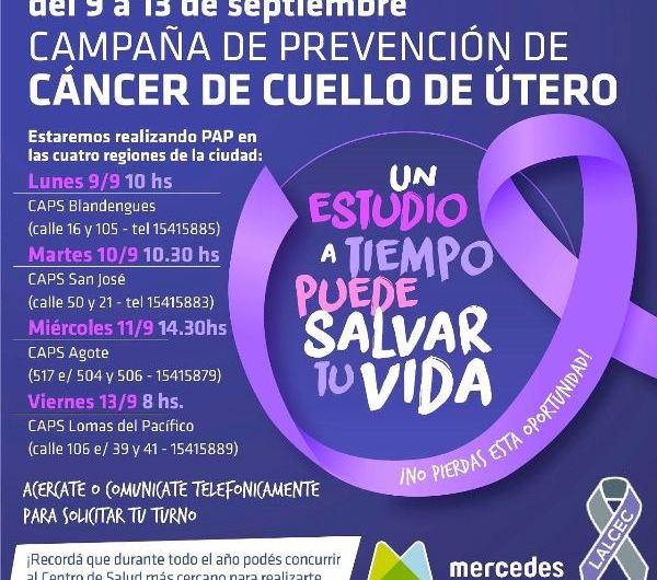 Campaña de Prevención contra el Cáncer de Cuello Uterino