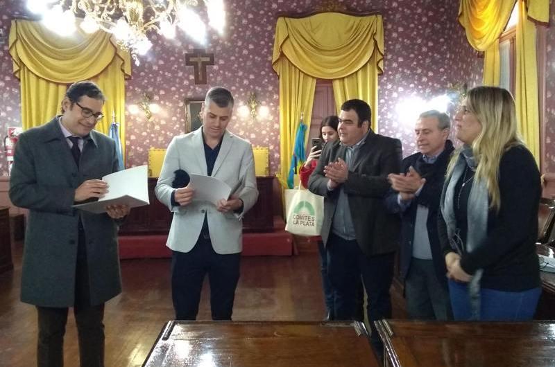 Visita oficial del Cónsul Italiano de La Plata