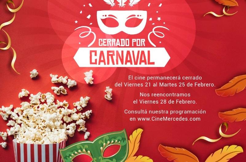 Cine Mercedes cierra de vacaciones por Carnaval