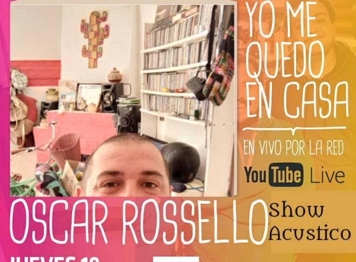 Oscar Rossello cantará en vivo por youtube