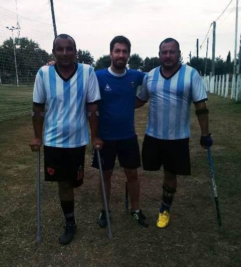 La Selección Argentina de Amputados entrenó en Mercedes