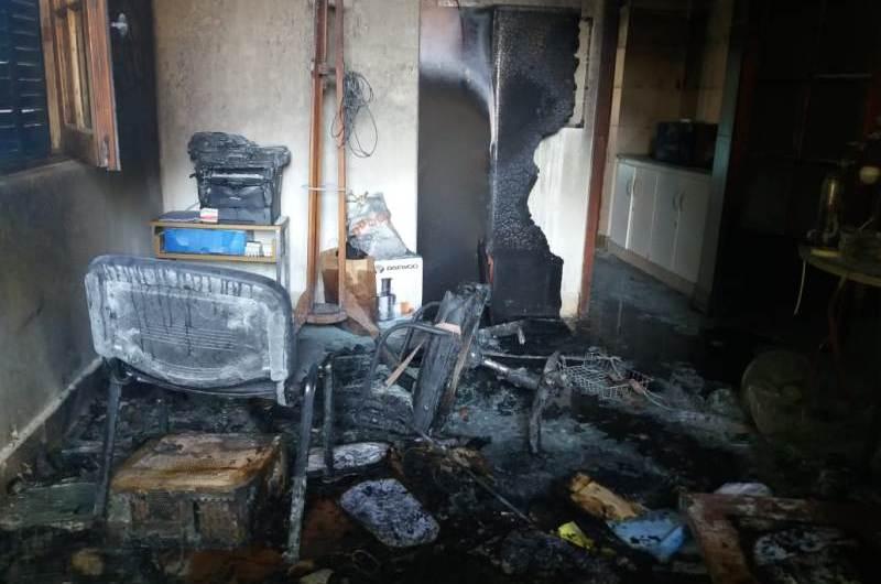 Incendio en la Secretaría de Desarrollo Social del Municipio