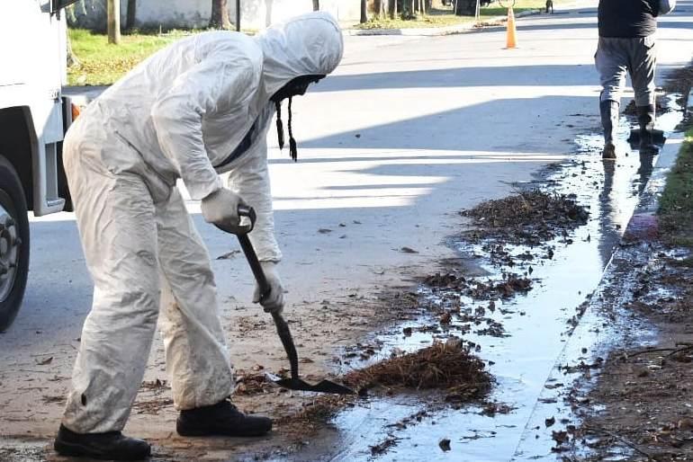 Servicios Públicos sigue con el mantenimiento de espacios públicos