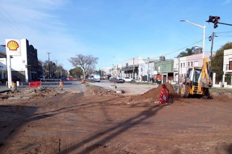 Continúan las obras en la avenida 2