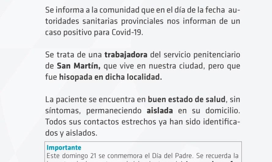 Coronavirus: Confirmaron un positivo que está aislado en Mercedes