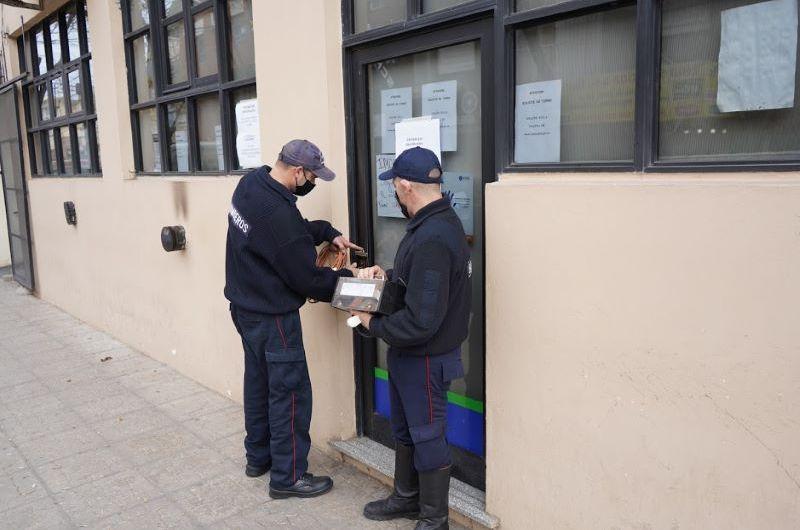 Desinfectan oficinas de IOMA Mercedes