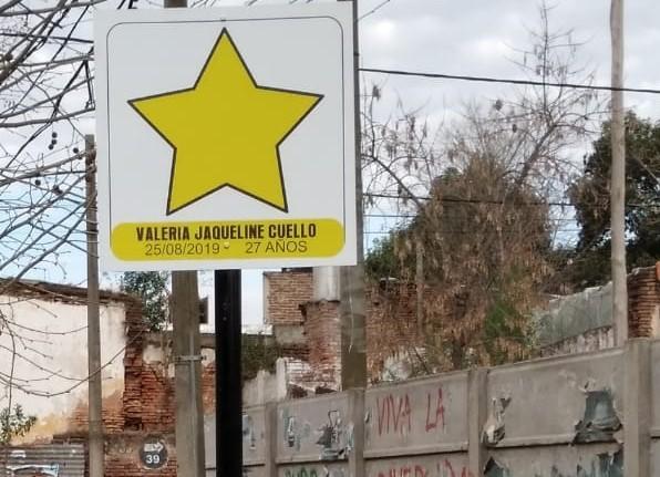 Estrella Amarilla a un año del fallecimiento de Valeria Cuello