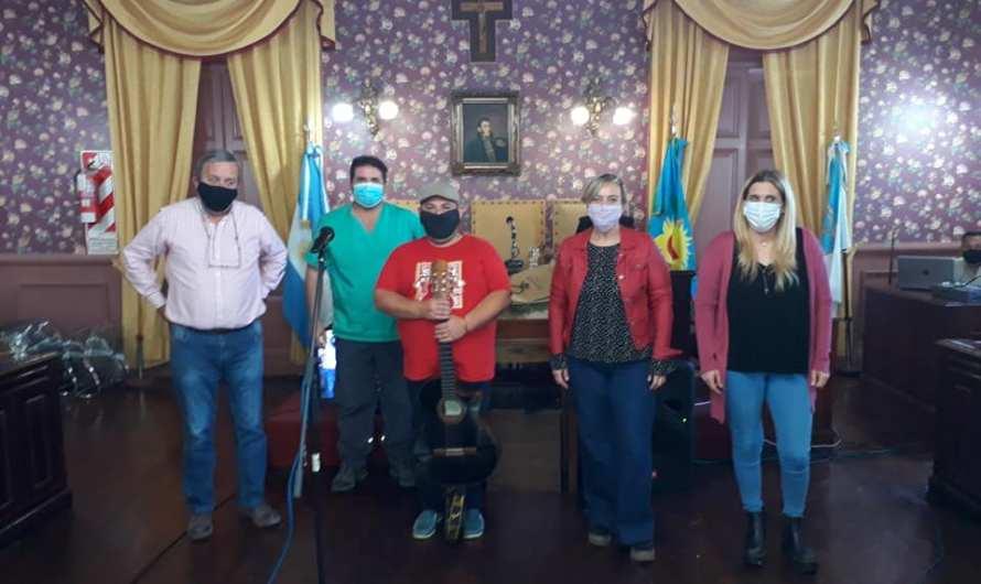 El HCD reconoce a Oscar Rossello por la Zamba de la Fiesta del Salame Quintero