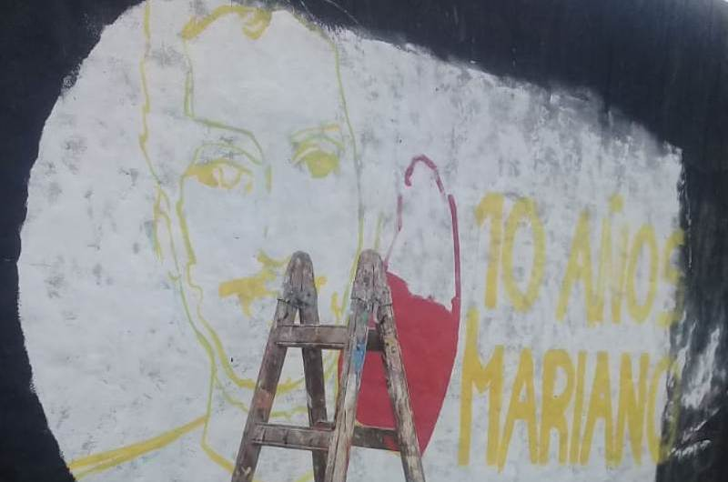 Mural a 10 años del asesinato de Mariano Ferreyra