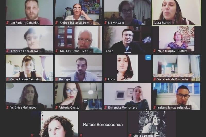Reunión virtual de diferentes áreas de Cultura Municipales