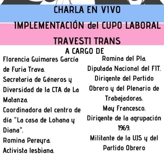 Asamblea de Mujeres Mercedinas organiza conversatorio sobre el cupo laboral travesti-trans